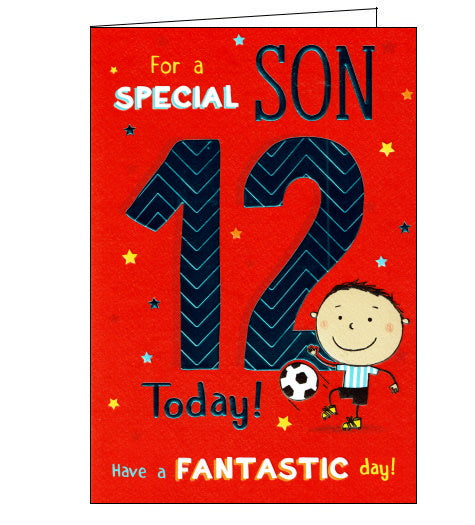 ICG 12th birthday card for son