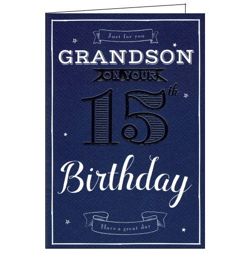 ICG 15th birthday card for grandson
