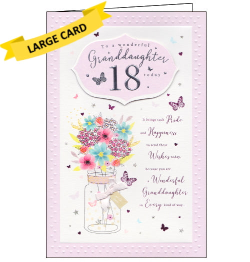 ICG 18th birthday card for granddaughter