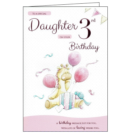 ICG 3rd birthday card for daughter