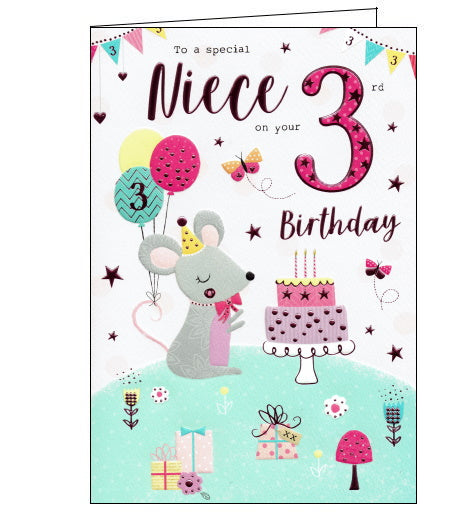 ICG 3rd birthday card for niece