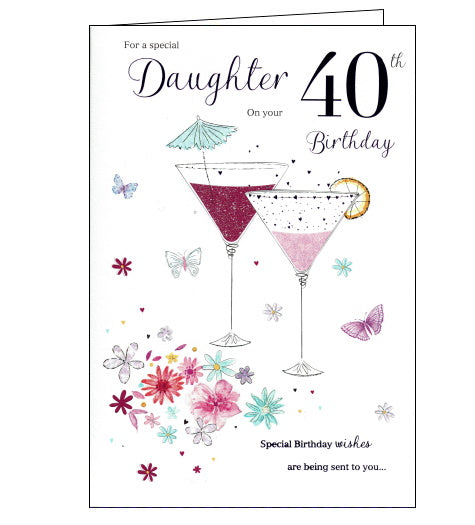 ICG 40th birthday card for daughter