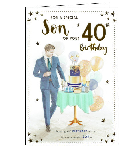 ICG 40th birthday card for son 1