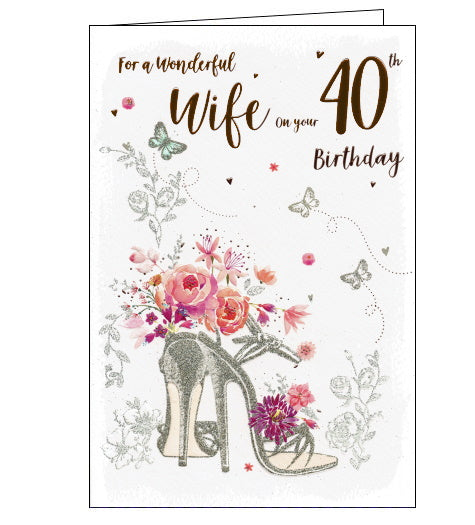 ICG 40th birthday card for wife