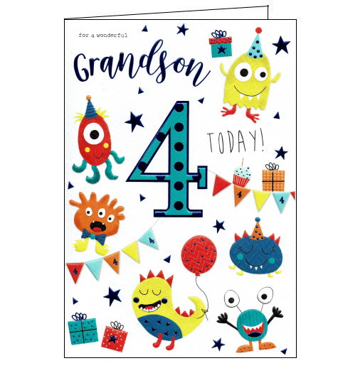 ICG 4th birthday card for grandson