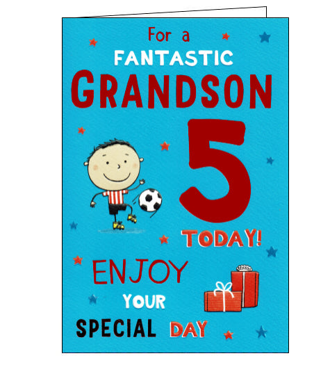 ICG 5th birthday card for grandson