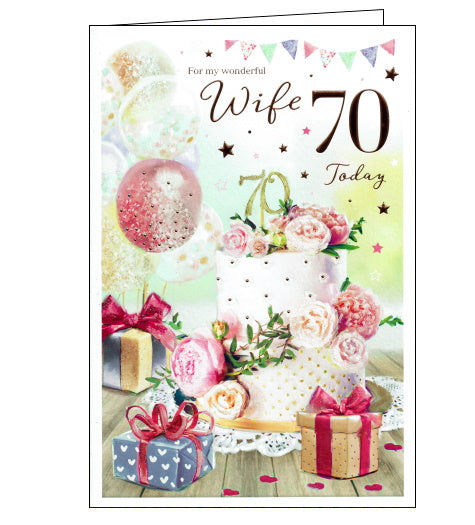 ICG 70th birthday card for wife