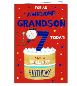 ICG 7th birthday card for grandson