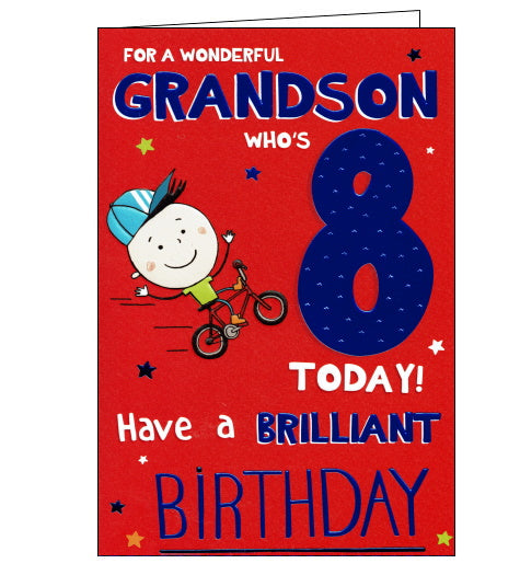 ICG 8th birthday card for grandson