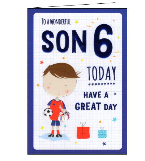 ICG 6 today son on your 6th birthday card Nickery Nook