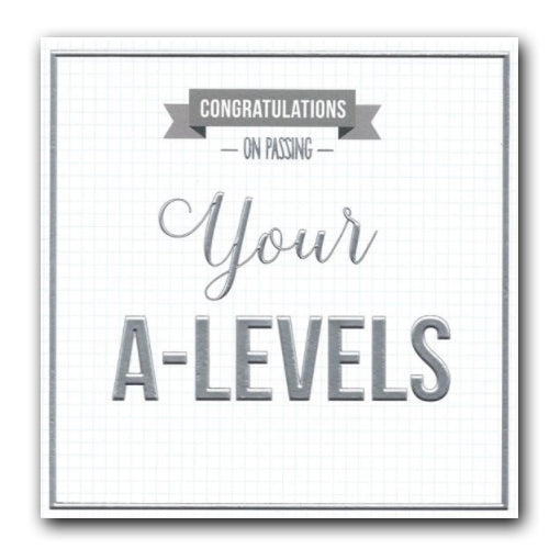 ICG Congratulations on passing your a-levels a levels exam success card Nickery Nook