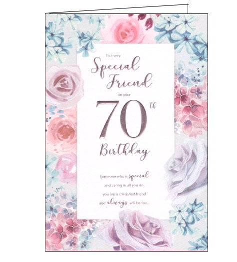 ICG For a special friend on your 70th birthday card Nickery Nook