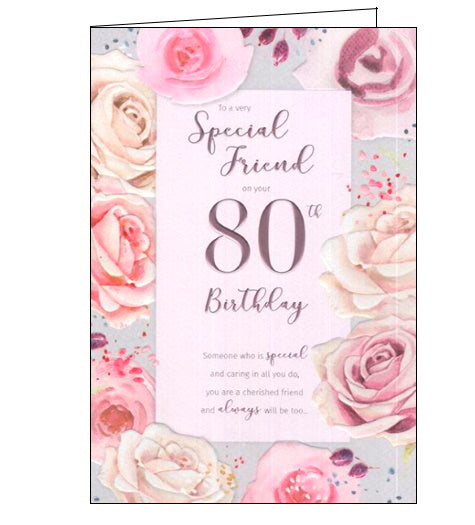 ICG For a special friend on your 80th birthday card Nickery Nook