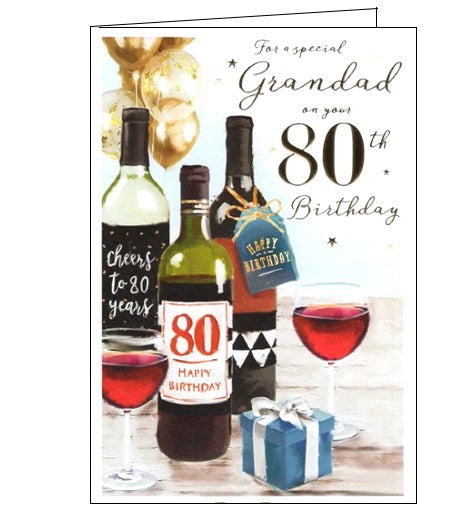 ICG For a special grandad on your 80th birthday card Nickery Nook