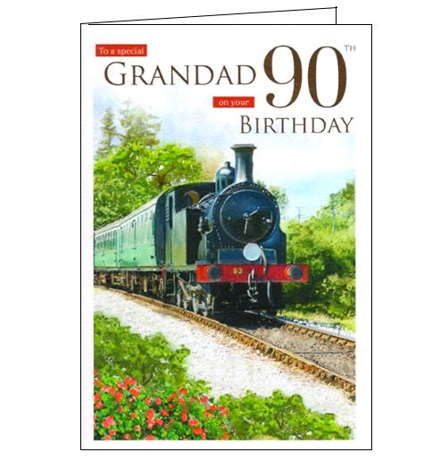 ICG For a special grandad on your 90th birthday card Nickery Nook