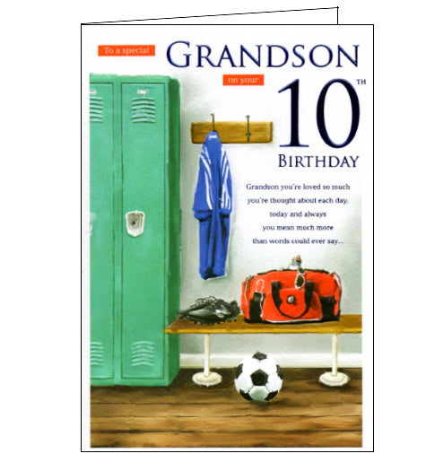 ICG For a special grandson on your 10th Birthday card Nickery Nook