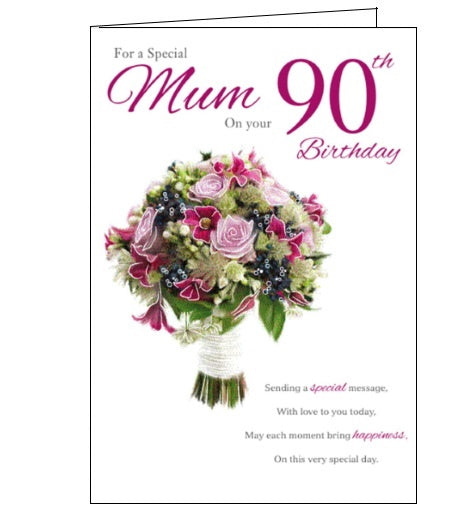 ICG For a special mum on your 90th birthday card Nickery Nook