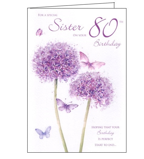 ICG For a special sister on your 80th birthday card Nickery Nook
