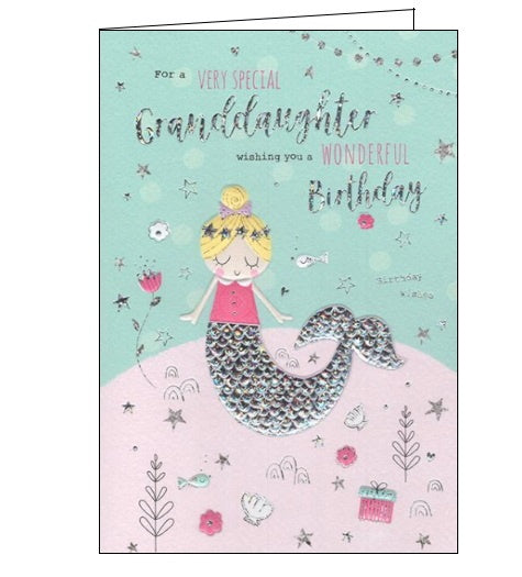 ICG For a very special granddaughter mermaids birthday card Nickery Nook
