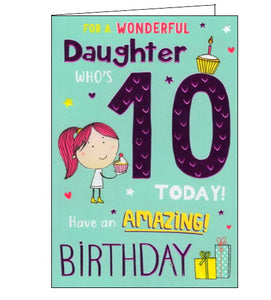 ICG For a wonderful daughter on your 10th Birthday card Nickery Nook