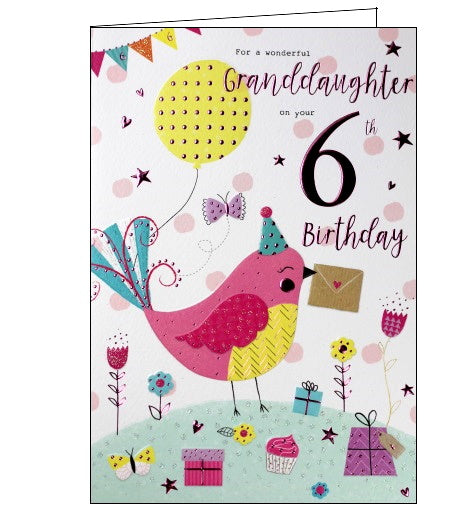 ICG For a wonderful granddaughter on your 6th Birthday card Nickery Nook