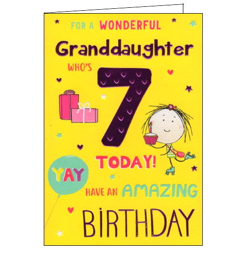 ICG For a wonderful granddaughter on your 7th Birthday card Nickery Nook