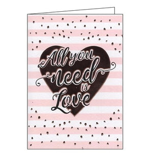 All You Need is Love - blank card