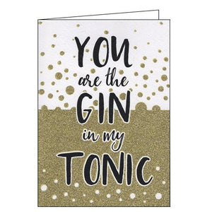 ICG Just to say you are the gin in my tonic blank card Nickery Nook