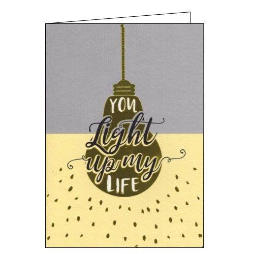 ICG Just to say you light up my life blank card Nickery Nook