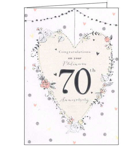 ICG On your platinum wedding anniversary card Nickery Nook new