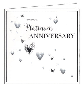 ICG On your platinum wedding anniversary card Nickery Nook square