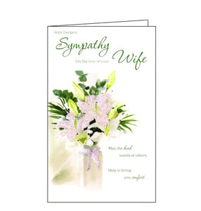 ICG With Deepest Sympathy on the Loss of Your Wife sympathy card Nickery Nook
