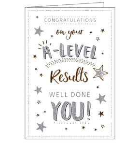 ICG a level results congratulations card Nickery Nook