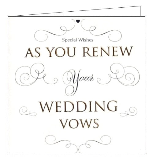ICG as you renew your wedding vows wedding card Nickery Nook