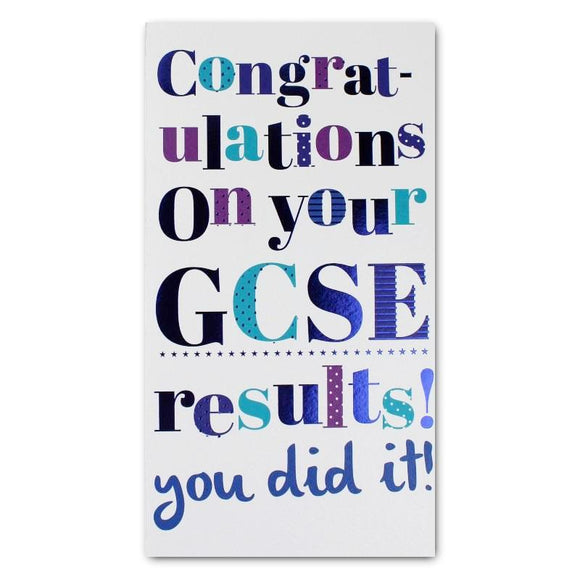 ICG congratulations on your exam success GCSE success card Nickery Nook