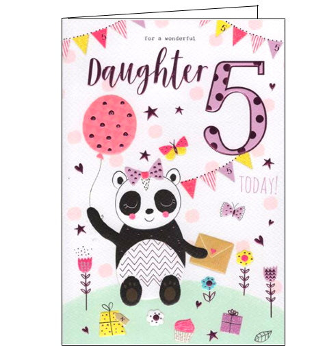 ICG daughter on your 5th birthday card Nickery Nook