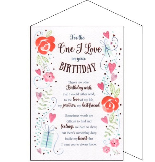 ICG eternal for the one I love birthday card Nickery Nook
