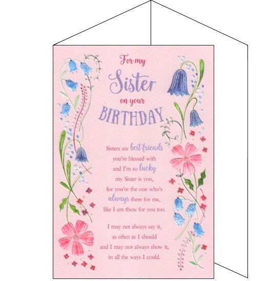 ICG eternal sister birthday card Nickery Nook