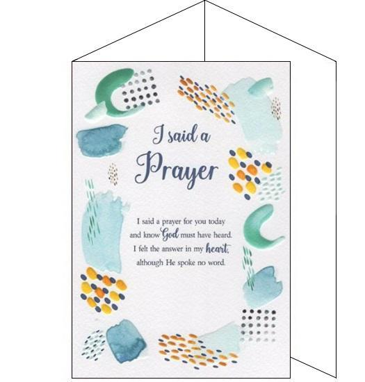 ICG eternal thinking of you prayer card Nickery Nook
