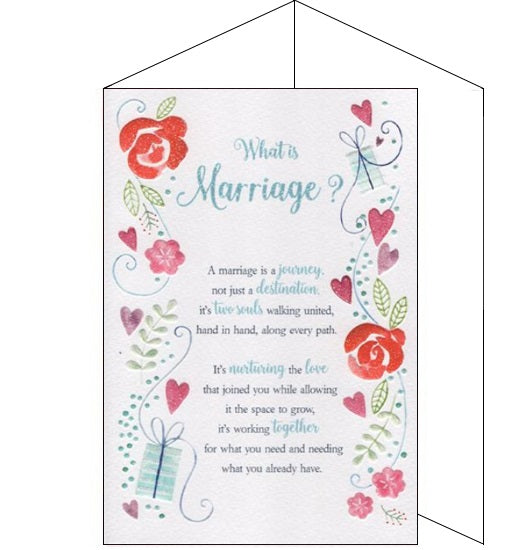 ICG eternal what is marriage Wedding Day congratulations card Nickery Nook