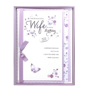 ICG for my beautiful wife on your birthday boxed card wife birthday card Nickery Nook