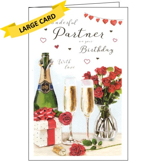 ICG for my wonderful partner happy birthday card large card Nickery Nook