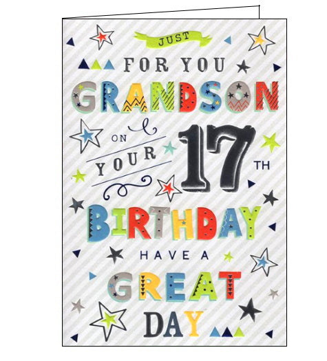 ICG  grandson 17th birthday card