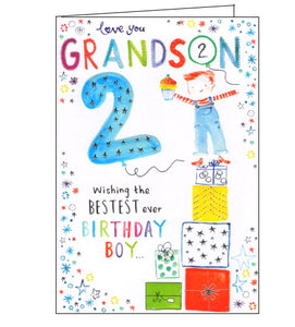 ICG grandson on your 2nd birthday card Nickery Nook
