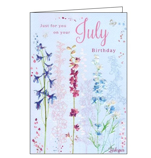 ICG july birthday flower facts birthday card Nickery Nook