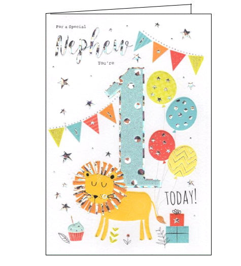 Groovy For A Special Nephew On Your 1St Birthday Card Nickery Nook Funny Birthday Cards Online Alyptdamsfinfo