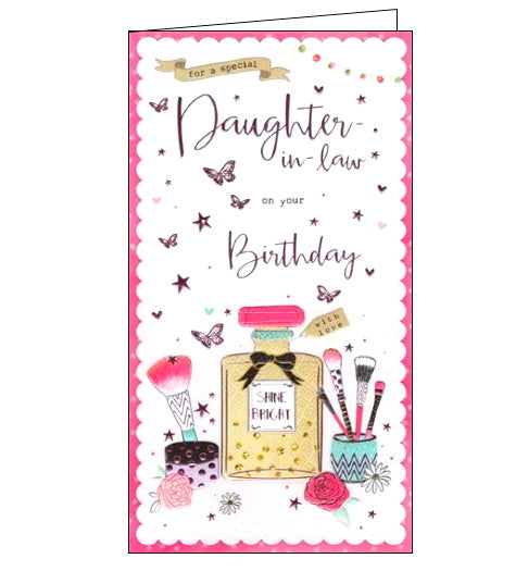 ICG make up glamour daughter in law birthday card Nickery Nook