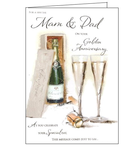 ICG mam and dad on your golden 50th anniversary card Nickery Nook