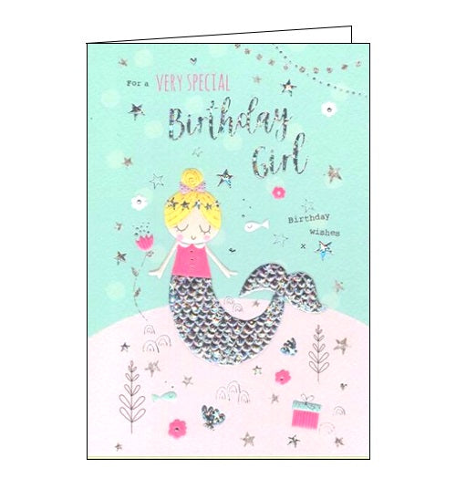 ICG mermaid very special birthday girl birthday card Nickery Nook