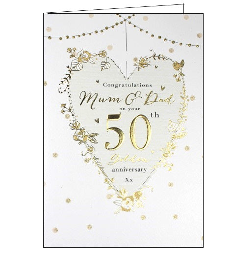 ICG mum and dad on your golden 50th anniversary card Nickery Nook 2